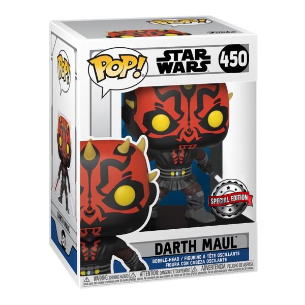 Фигурка Funko POP! Bobble: Star Wars: Clone Wars: Darth Maul with Saber (Exc)