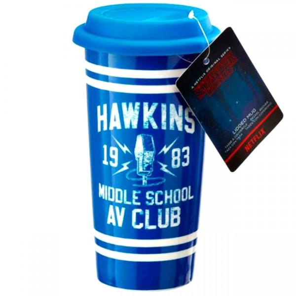 Кружка керамическая Funko Stranger Things: Lid Mug: Hawkins AV Club