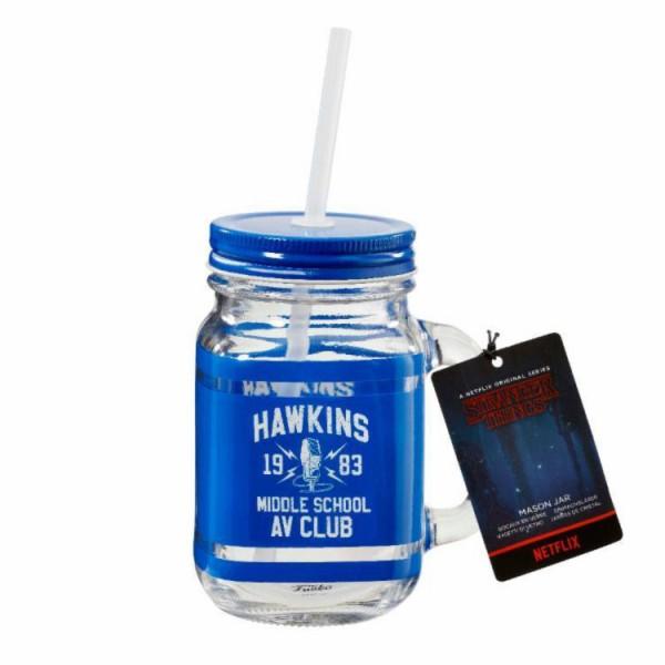 Кружка стеклянная Funko Stranger Things: Mason Jar: Hawkins AV Club
