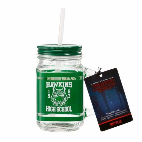Кружка стеклянная Funko Stranger Things: Mason Jar: Hawkins High School