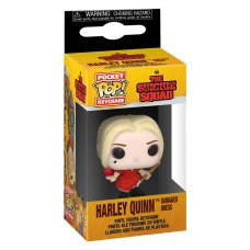 Брелок Funko Pocket POP! Suicide Squad: Harley Quinn (Damaged Dress)