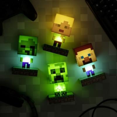 Настольные светильники Minecraft от Paladone
